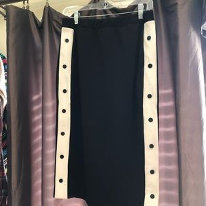 Track Style Pencil Skirt